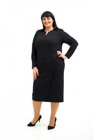 Коктельне плаття  великого розміру  VN41704 чорний