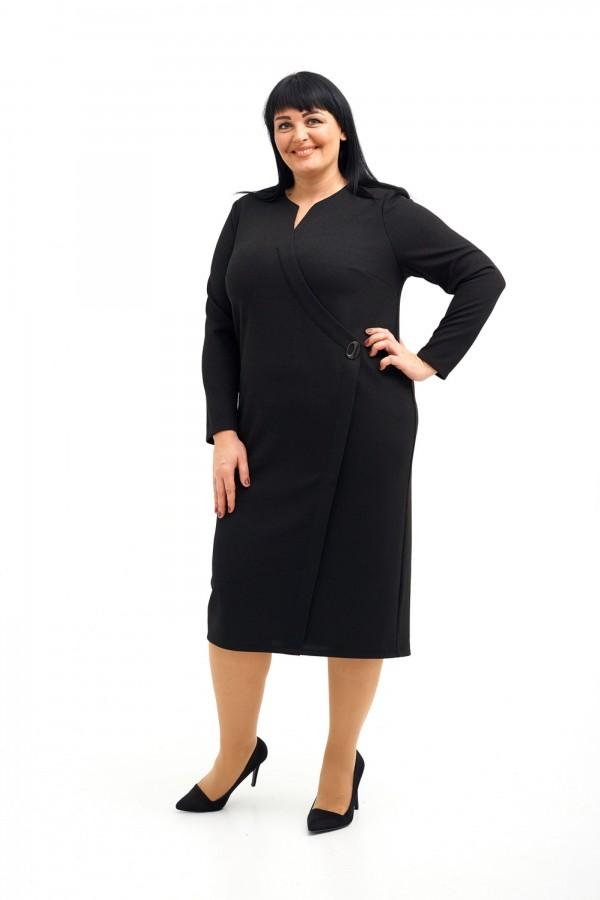 Коктельне тепле плаття великого розміру  VN41704 чорний