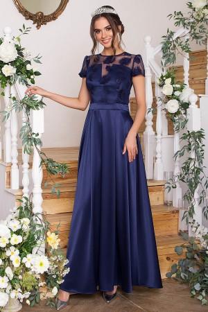 Довге вечірнє плаття Лорена GL68830 синє