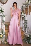 Чудова вечірня сукня  Лорена GL6883  лілового кольору. Довжина  плаття максі.