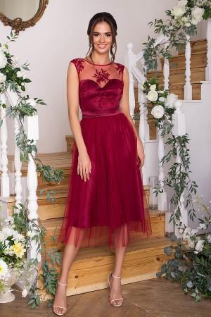 Чарівне плаття Паіса GL67850 бордо