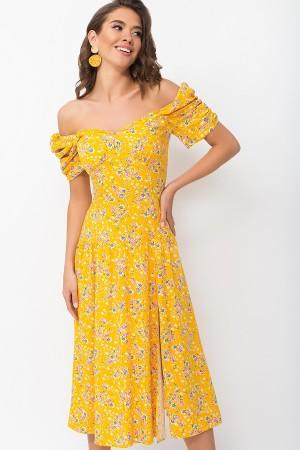 Плаття Ніксі к / р GL 70121 колір жовтий-м.букет