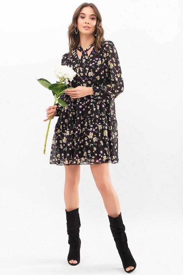Сукня Мара д / р GL67715 Колір Чорний-жовта квітка