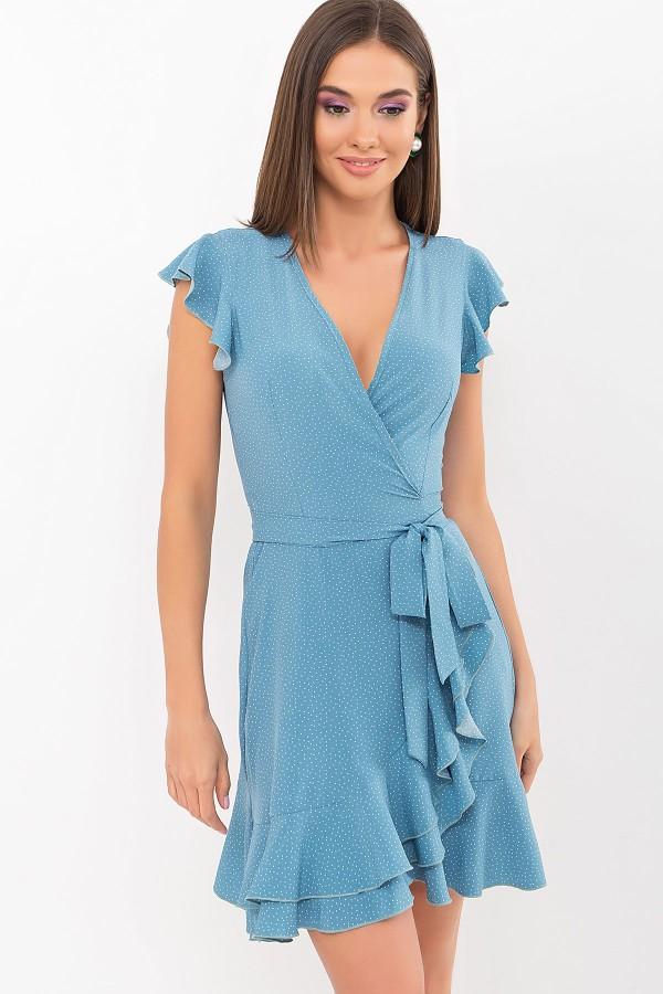 Плаття Софія б/р GL69597 колір бірюза-точка біла