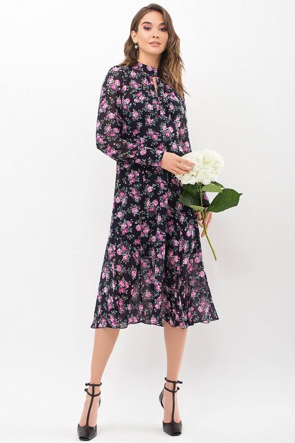 Плаття Мануела д/р GL68338 колір синій-рожевий трояда