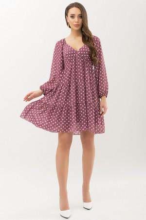 Сукня Хельга д / р GL66467 колір фрез-білий горох