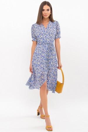 Платье Алеста к/р GL69469 цвет голубой-ромашки