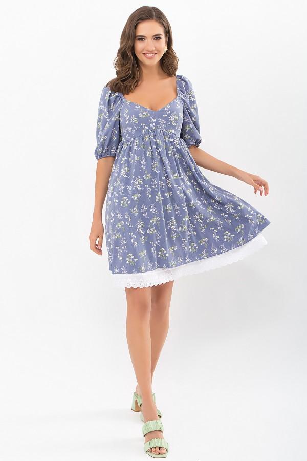 Плаття Есміна к/р GL68916 колір джинс-польові квіти