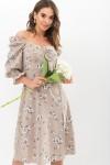 Сукня Пала д / р GL67719 колір бежевий-білий букет
