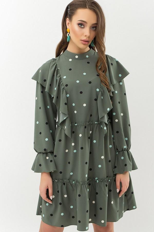 Сукня Лесса д / р GL66530 Колір Хакі-горох кольоровий