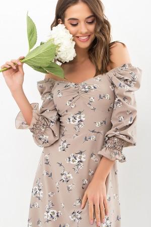 Плаття Пала д/р GL67719 колір бежевий-білий букет
