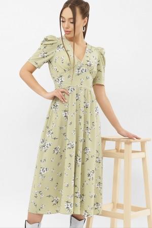 Сукня Фаріза К / Р GL68279 колір оливка-білий букет