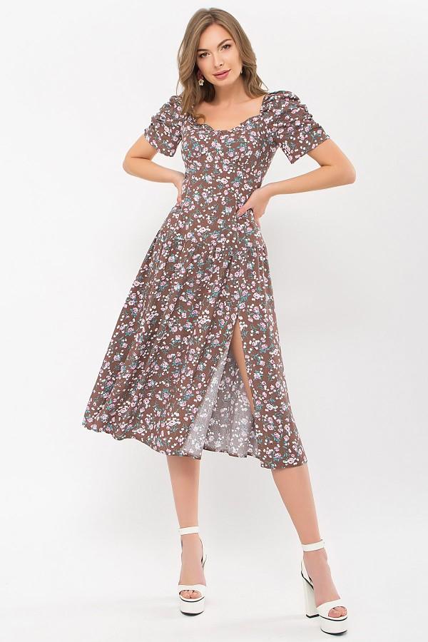 Платье Никси к/р GL 70878 цвет капучино-розов.Розы