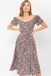 Плаття Ніксі к / р GL 70878 колір капучино-розов.Рози