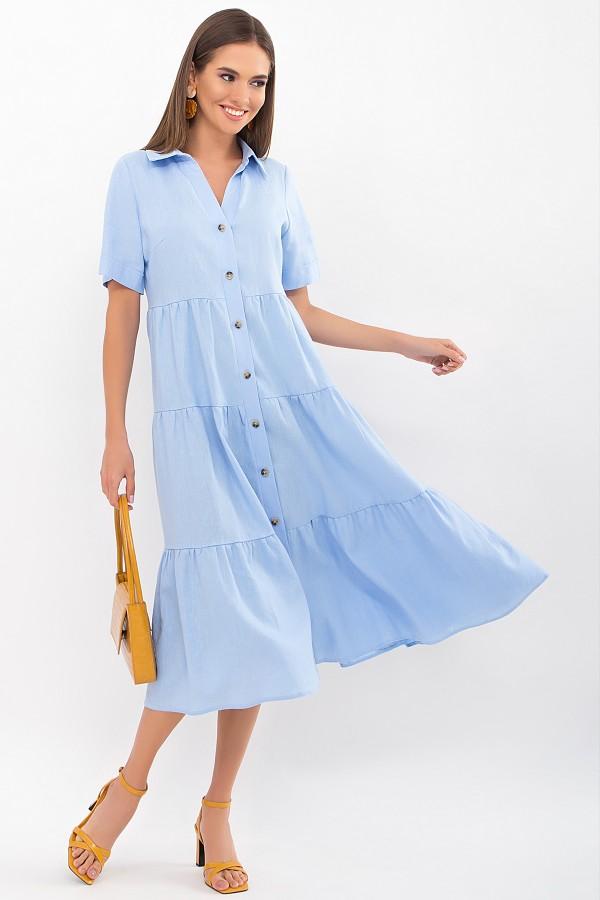 Плаття Іветта к/р GL69427 колір блакитний