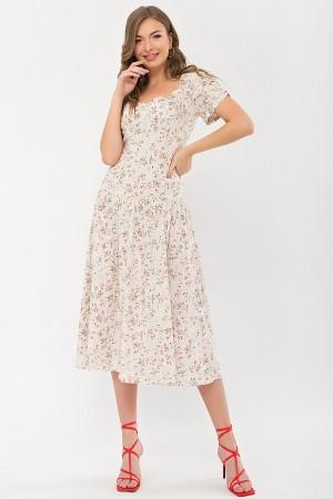 Плаття Ніксі к / р GL 70879 колір молоко-персік.Рози