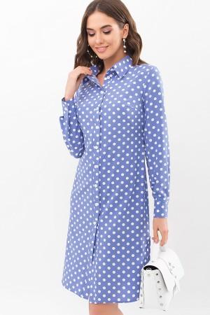 Сукня-сорочка Еліза д / р GL67489 колір джинс-білий горох