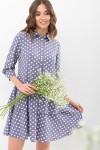 Сукня Саліма 3/4 GL68192 колір сірий-білий горох