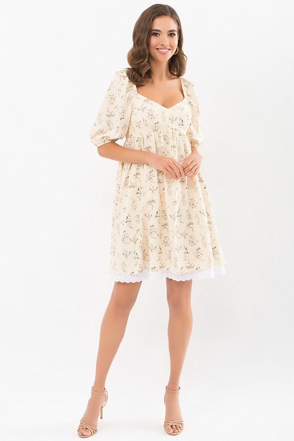 Плаття Есміна к/р GL68917 колір молоко-польові квіти