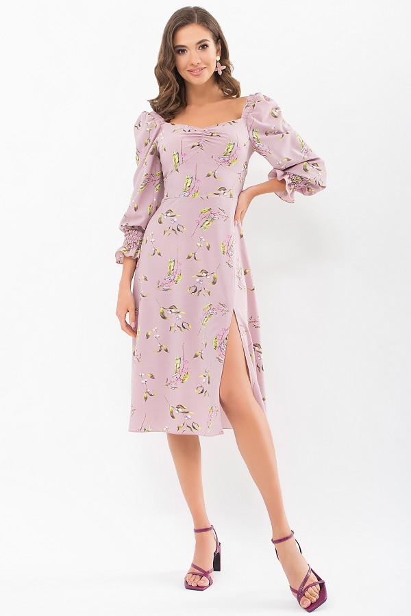 Плаття Пала д/р GL68981 колір ліловий-квіти-ягоди