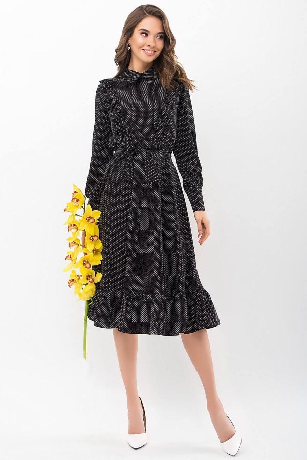 Сукня Дарсія д / р GL68828 Колір чорний-білий м. горох