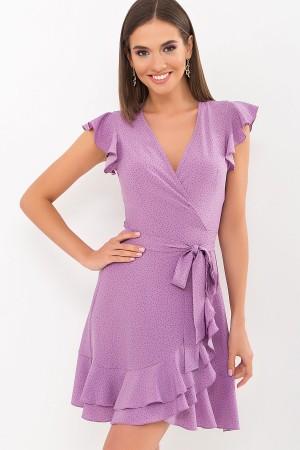 Плаття Софія б/р GL69596 колір бузок-точка чорна
