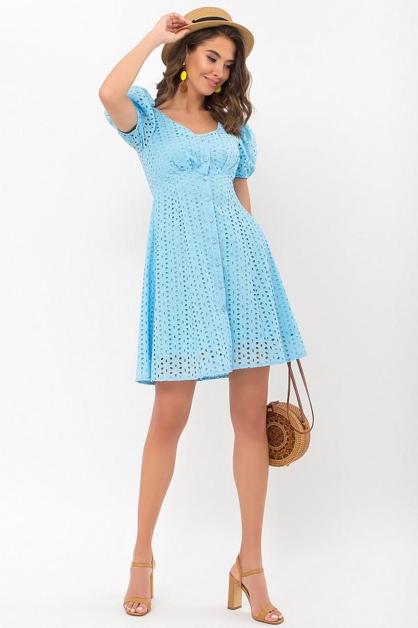 Плаття Една к / р GL69769 колір блакитний
