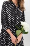 Сукня Саліма 3/4 GL68190 Колір Чорний-білий горох