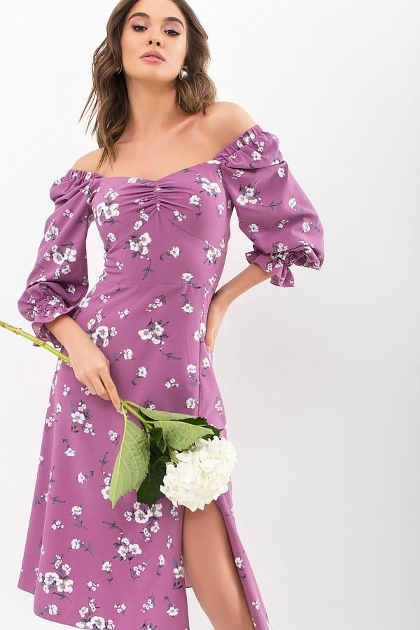 Сукня Пала д / р GL67716 колір фрез-білий букет