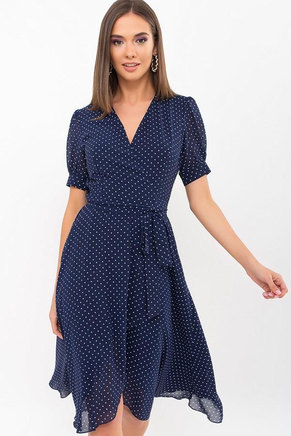 Плаття Алеста к/р GL69471 колір т. синій-білий м. горох