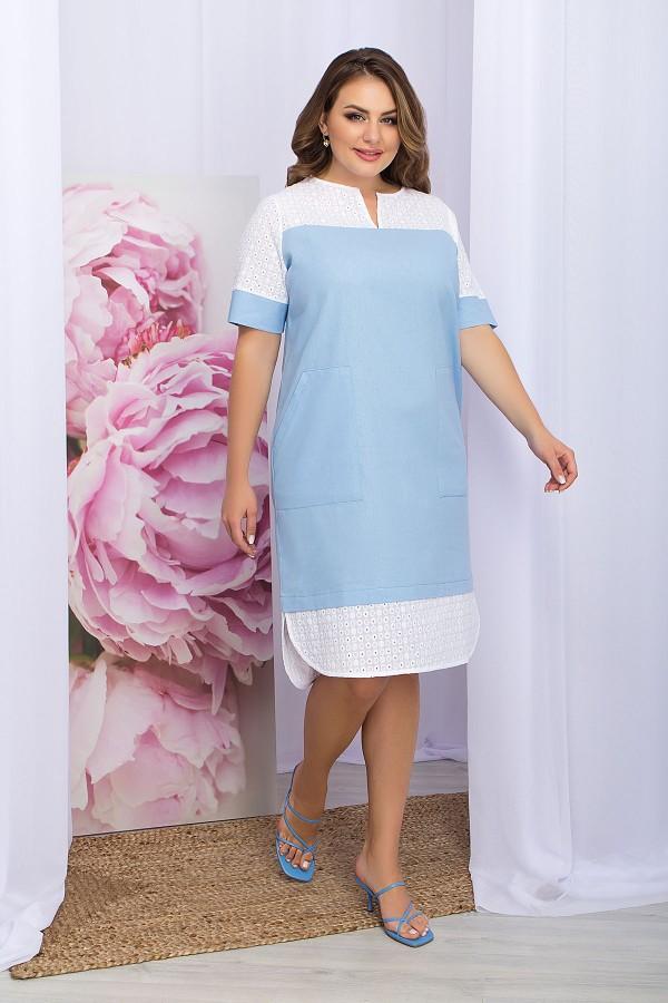 Платье Сатива-Б к/р GL70291 цвет голубой