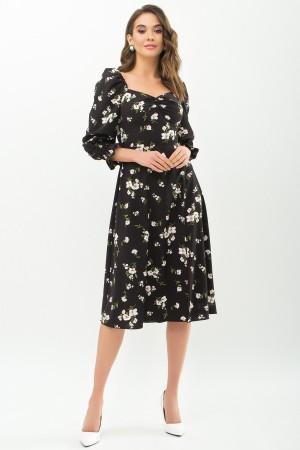 Сукня Пала д / р GL67717 Колір чорний-білий букет