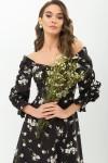 Плаття Пала д/р GL67717 колір чорний-білий букет