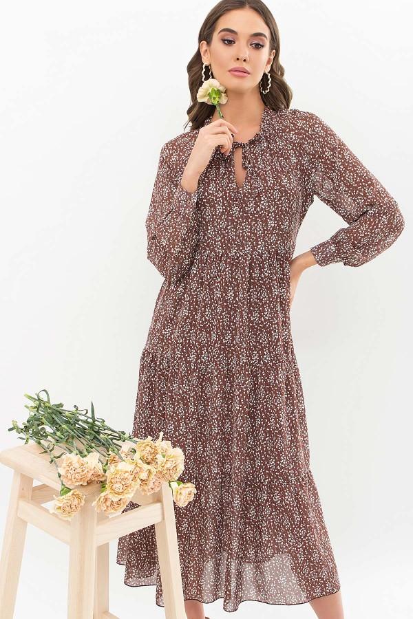 Сукня Маріетта д / р GL67477 колір коричневий-конвалії