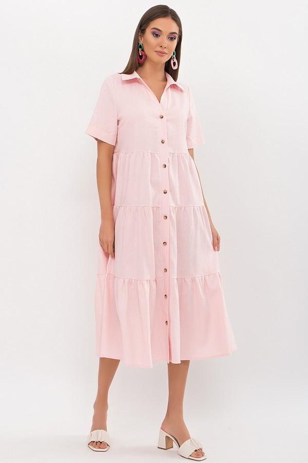 Платье Иветта к/р GL69429 цвет пудра