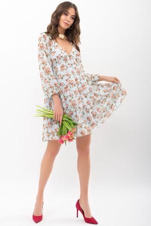 Сукня Хельга д / р GL68197 колір м'ята-персик троянди