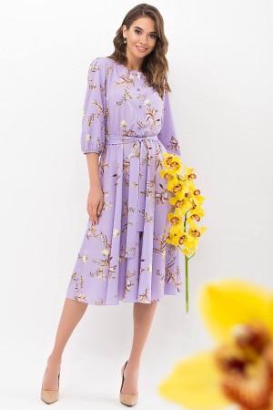 Сукня Сауле 3/4 GL68269 колір лавандовий-гілка
