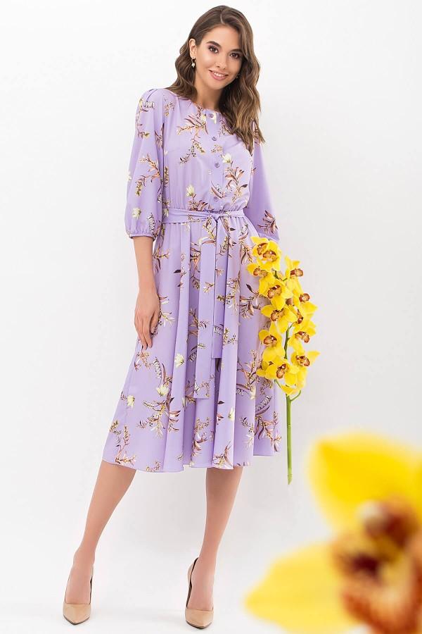 Платье Сауле 3/4 GL68269 цвет лавандовый-ветка