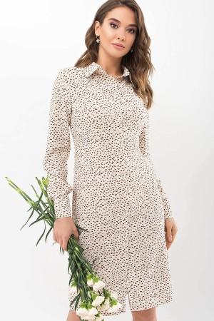 Плаття-сорочка Еліза д/р GL68841 колір молоко-різнокольорова пляма