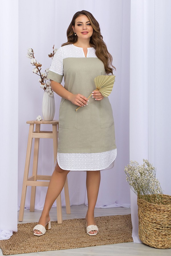 Платье Сатива-Б к/р GL70293 цвет оливковый
