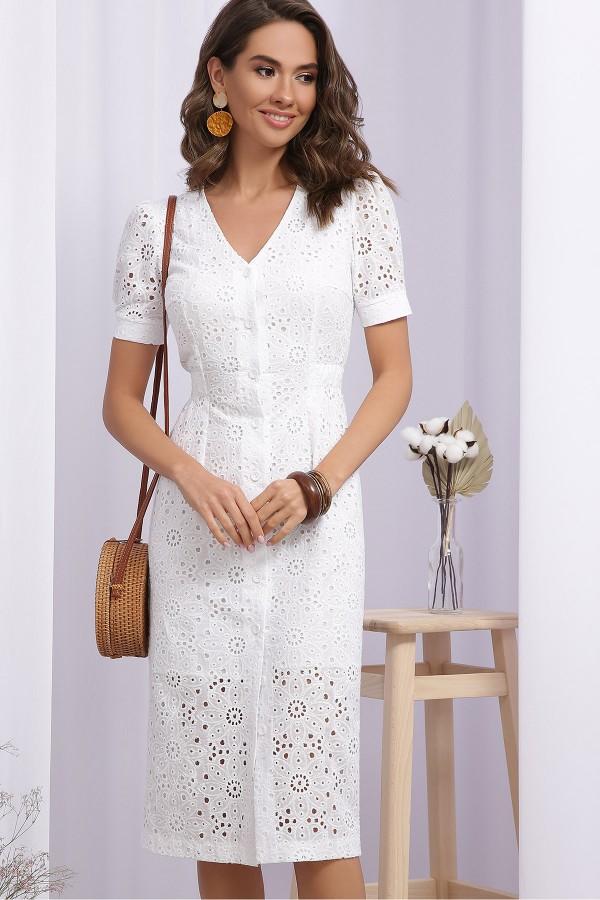 Платье Клера к/р GL69638 цвет белый