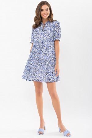 Плаття Каміль к/р GL68910 колір блакитний-ромашки