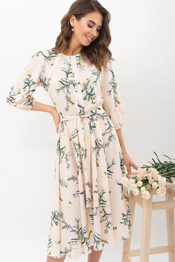 Плаття Сауле 3/4 GL68271 колір персик-гілка