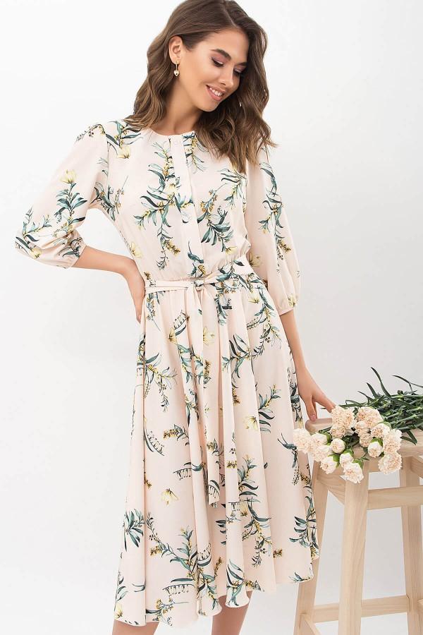 Сукня Сауле 3/4 GL68271 колір персик-гілка