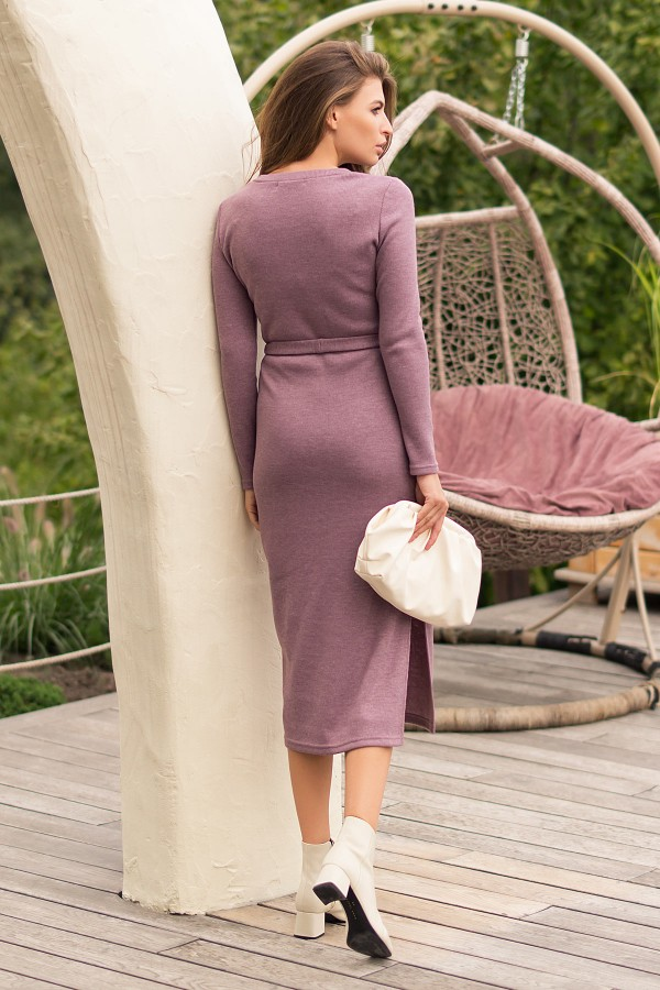 Плаття тепле Піна д / р GL74185 колір т. Ліловий