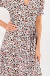 Платье Алеста к/р GL69468 цвет черный-ромашки