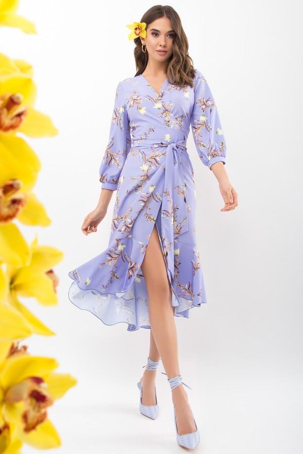 Сукня Сафура 3/4 GL68195 колір джинс-гілка