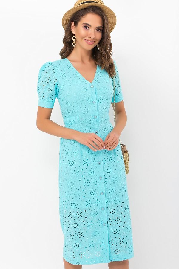 Платье Клера к/р GL69639 цвет бирюза