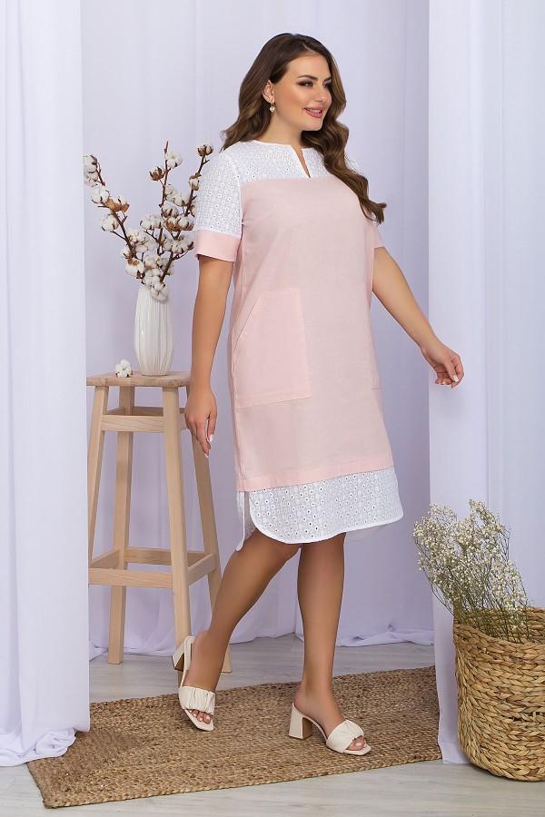 Платье Сатива-Б к/р GL70292 цвет пудра