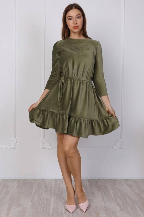Жіночне велюрове плаття YM38802